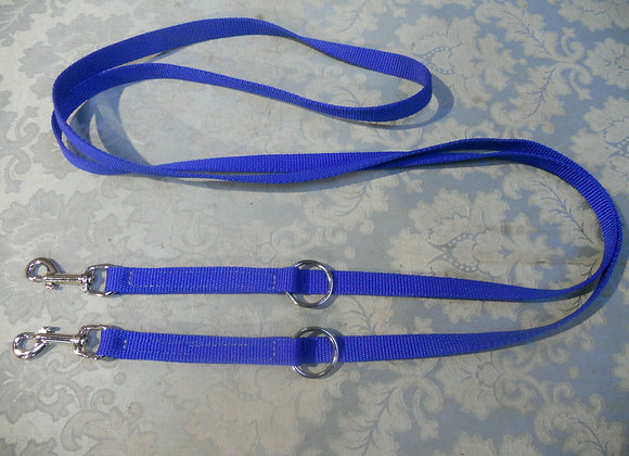 6ft Police type double clip dog training lead