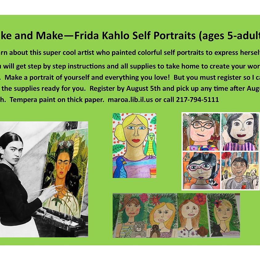 Take and Make a Frida Kahlo Self Portrait!