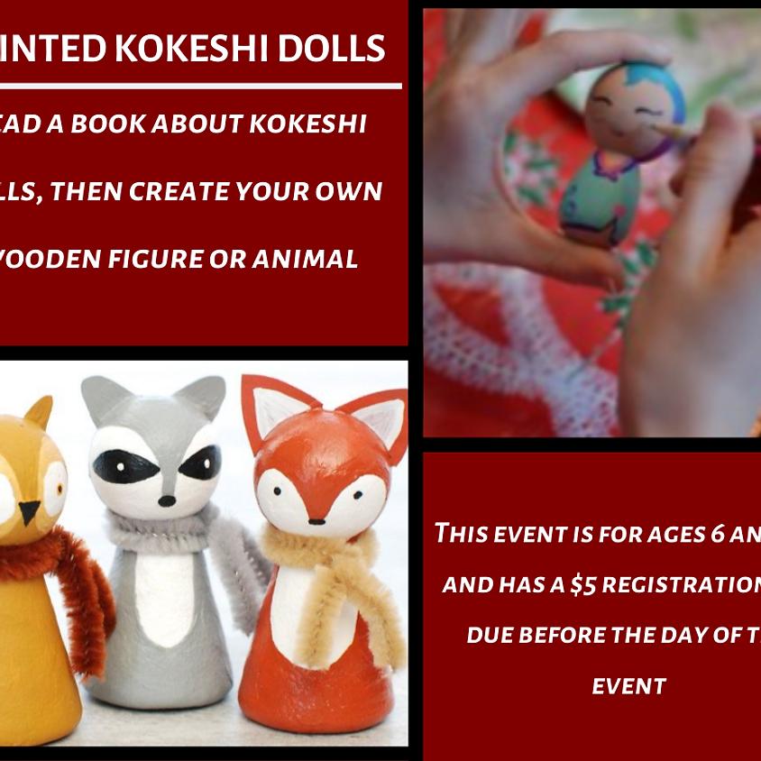 Painted Kokeshi Dolls