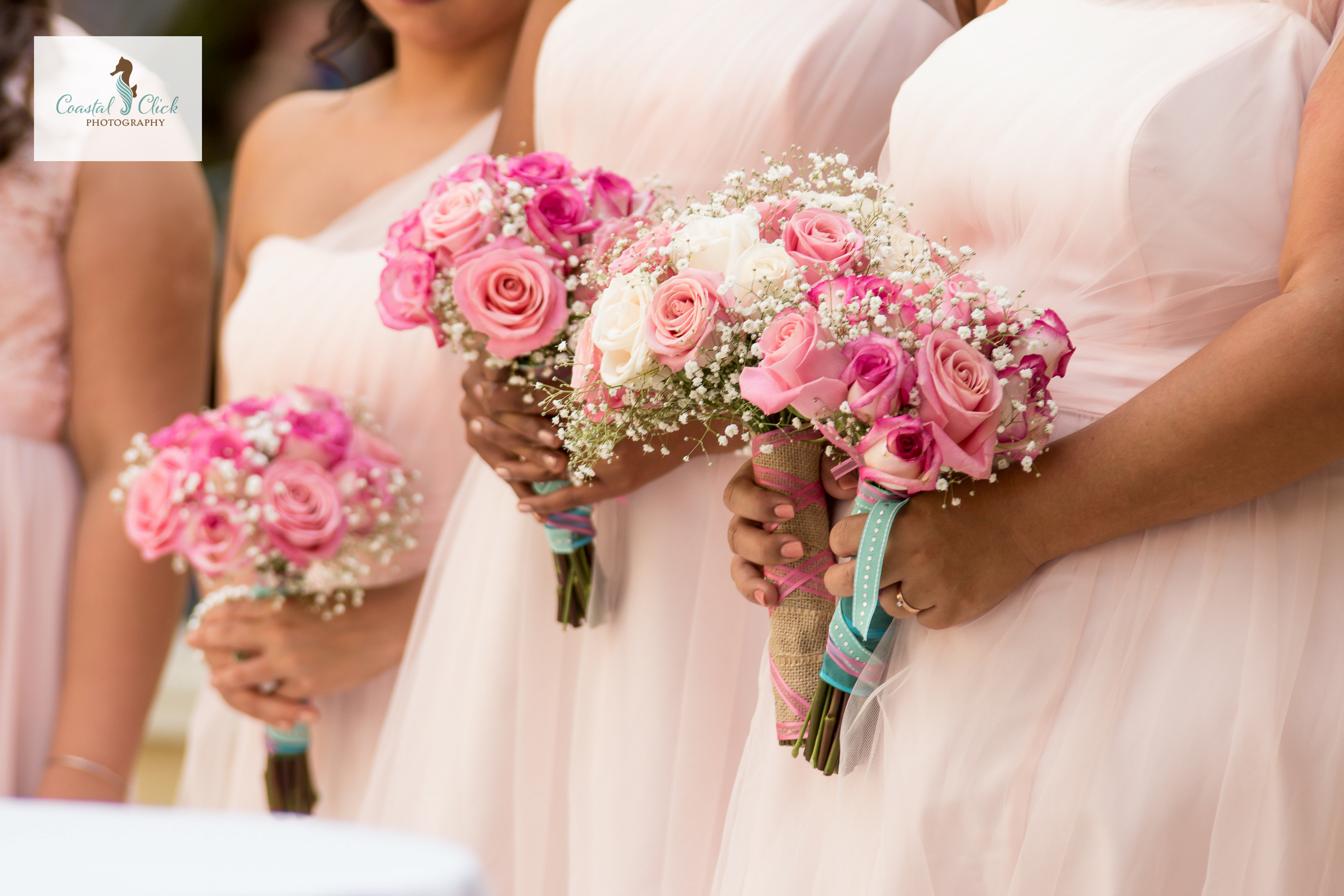bridesmaid bouquets pink wedding