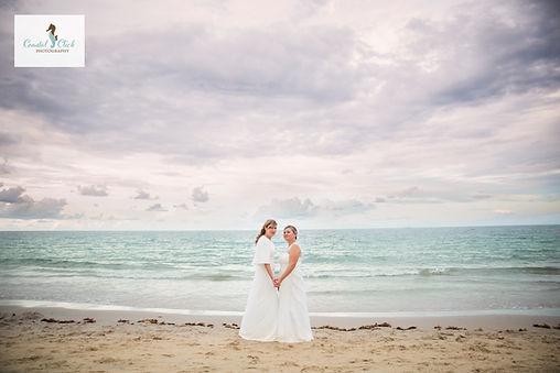 LGBT wedding couple at  florida beach