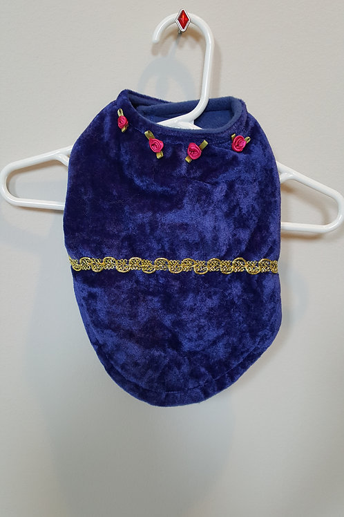 Royal blue faux fur dress