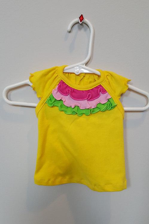 Dog tee shirt in Yellow with Ruffles