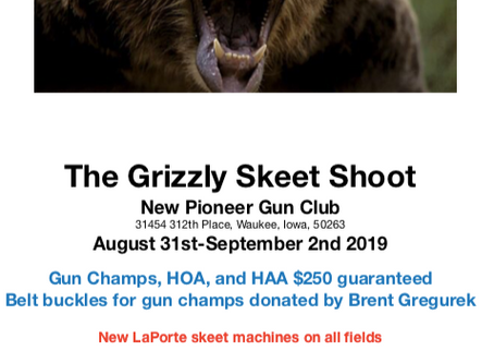 The annual Iowa vs. Minnesota Challenge...Grizzly Bear skeet shoot...time to form your squad