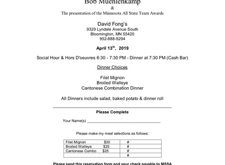 The Minnesota Skeet Shooting Association invites you to: The 2019 MSSA Annual Awards Banquet