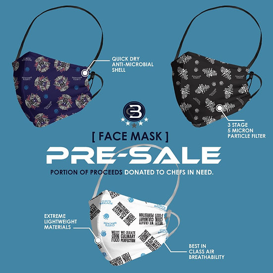 Chef inspired 3 pack face masks