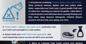 The 7 biggest mistakes - Keeping your Chef Brigade Whites, White !