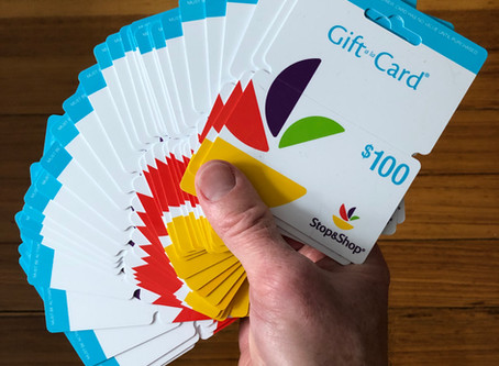 First Batch of Supermarket Gift Cards