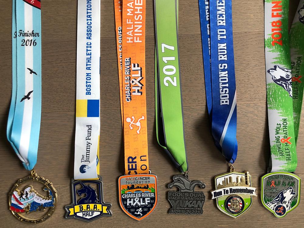 Medals for Half-Marathons in Massachusetts