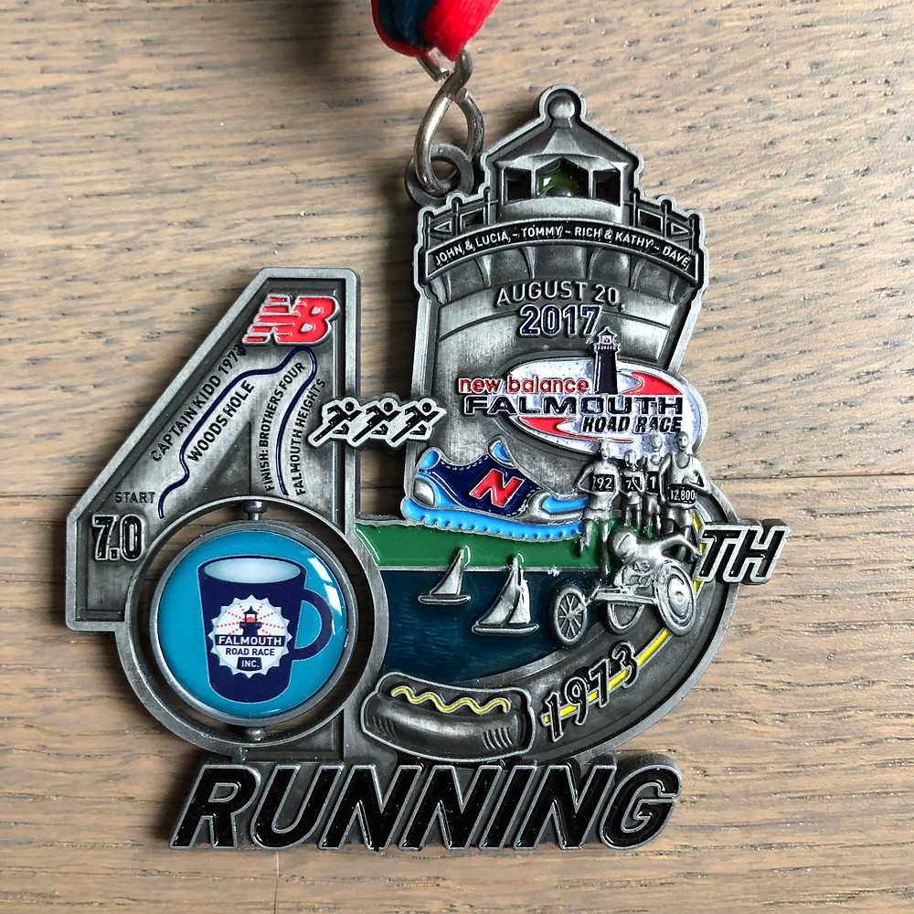 Medal for the 45th Falmouth Road Race
