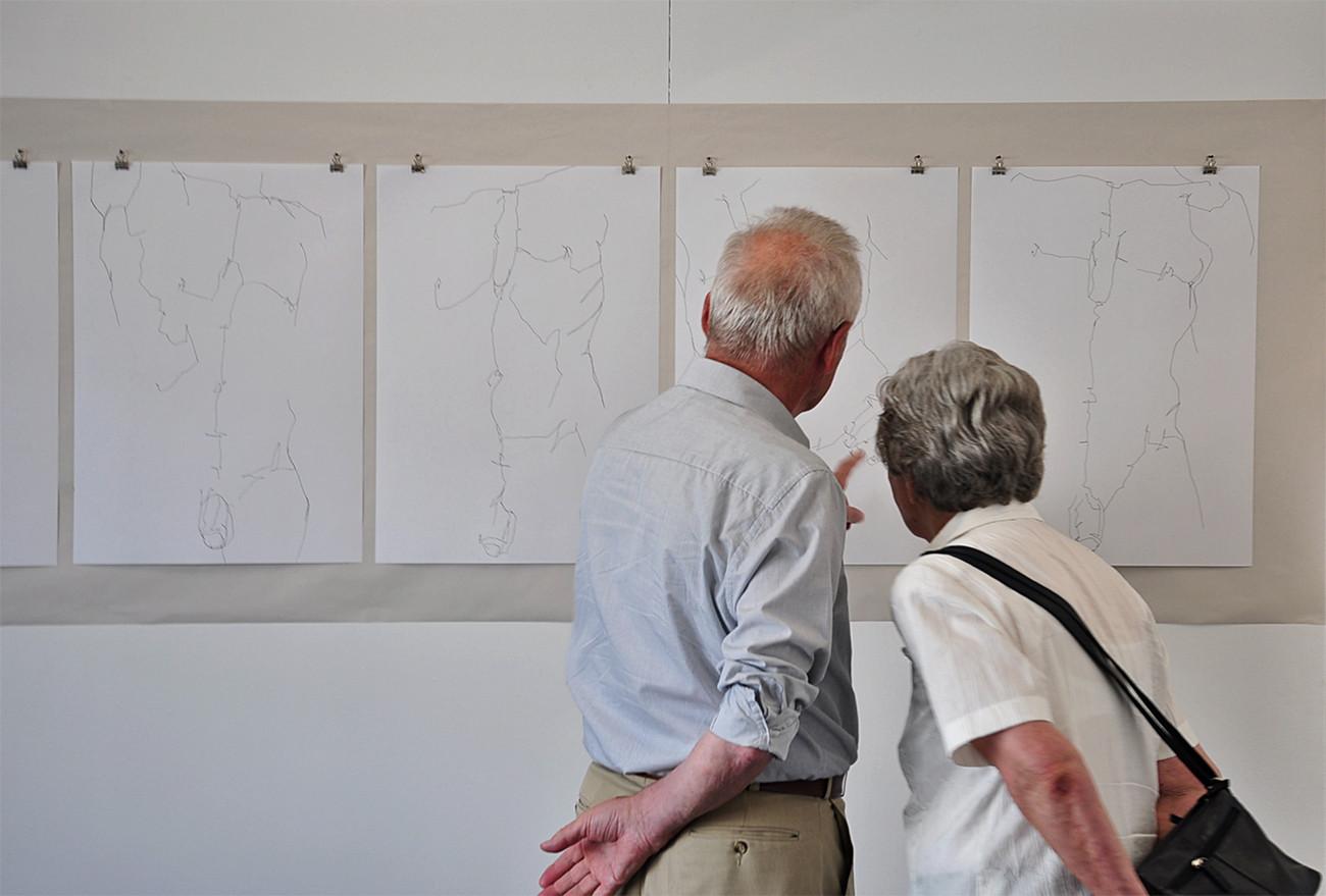Intensive Begegnungen   Nikolaus Reinecke   Zeichnungen