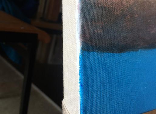 Warum sind die Kanten meiner Gemälde nicht bemalt?