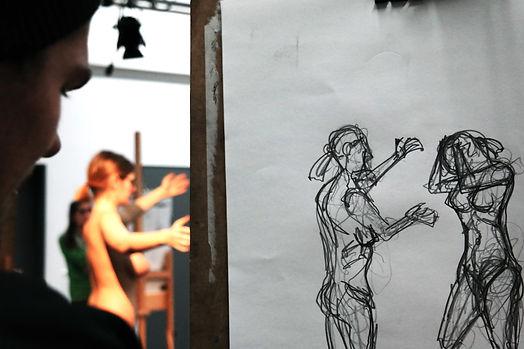 Aktzeichnen | Nikolaus Reinecke | Zeichnung