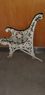 1940s Cast Iron Bench Ends