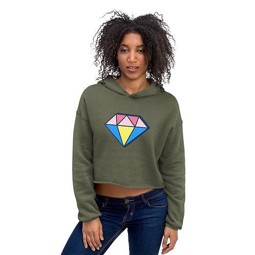 Diamond Crop Hoodie