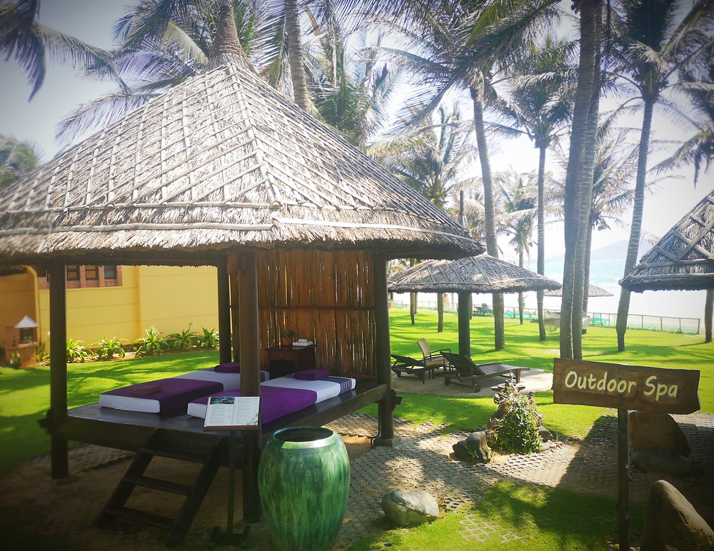 Spa and massages directly on the beach in Pandanus Resort, Mui Ne, Vietnam
