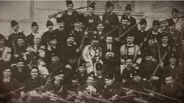 Група устаника из Топличког устанка 1917.