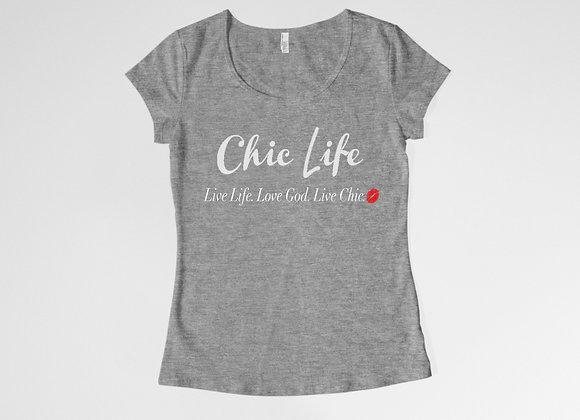 CL Live Life Scoop Neck Tee