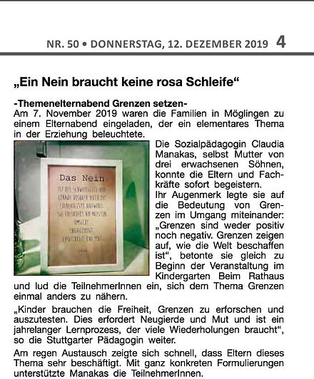 Erziehungsberatung online | Maria Claudia Manakas | Stuttgart