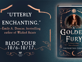Blog Tour  + Excerpt :A Golden Fury by Samantha Cohoe
