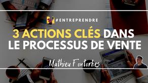 3 actions clés dans le processus de vente