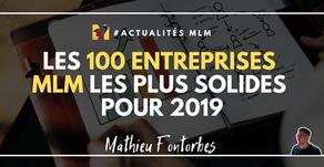 Les 100 entreprises MLM les plus solides pour 2019