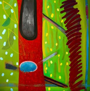 Oil on Canvas / Olew ar Ganfas 100cm x100cm