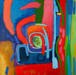 Oil on Canvas / Olew ar Ganfas 90cm x90cm