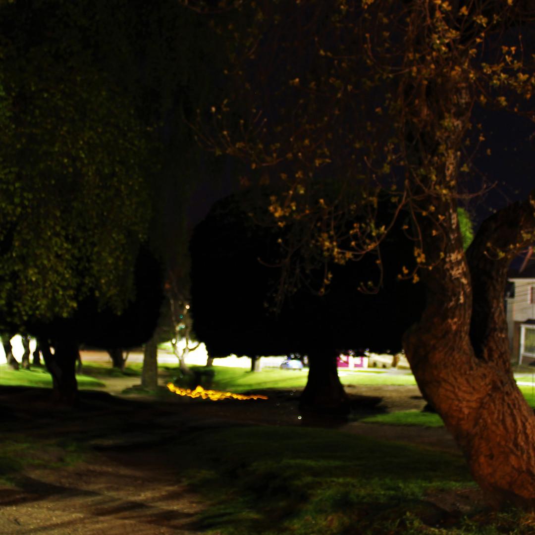 Nighttime streets of Punta Arenas