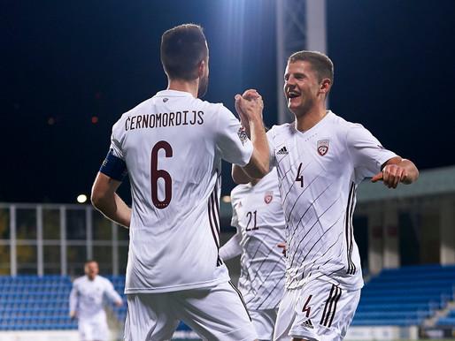 Latvijas futbola izlase izcīna vēsturiski pirmo uzvaru UEFA Nāciju Līgā
