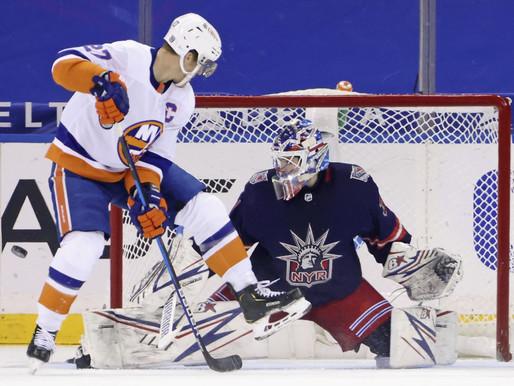 """Ņujorkas duelī pārāki """"Islanders"""" hokejisti, """"Blue Jackets"""" revanšējas """"Hurricanes"""". NHL"""
