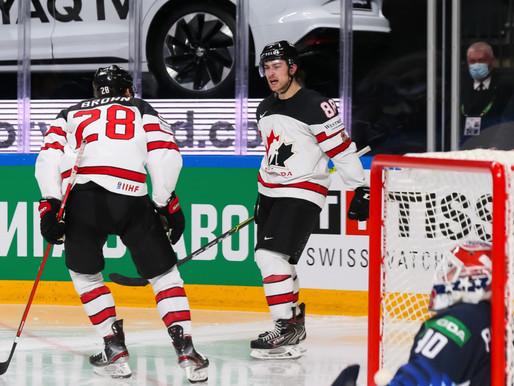 Kanāda pusfinālā revanšējas amerikāņiem un iekļūst Pasaules čempionāta finālā