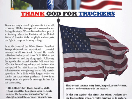 Thank GOD for Truckers!