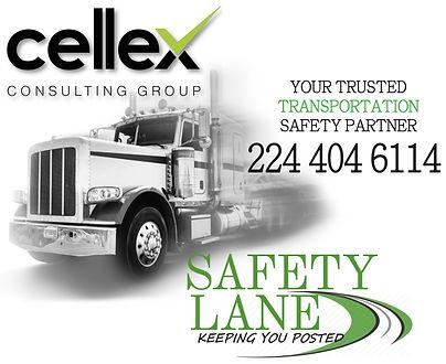SAFETY lANE wHITE logo with cellex123.jp
