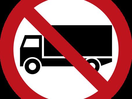 Камионите с ограничения за движение в Милуоки, Уисконсин