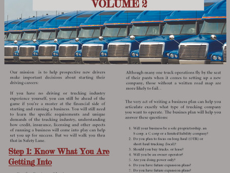 So you Want to start your own Trucking Company - Volume 2