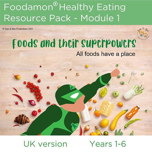 UK Educator: Foodamon Healthy Eating: Module 1 (with printable game)
