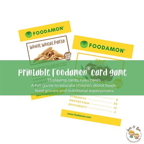Foodamon Print-at-home Card Game (UK Edition)