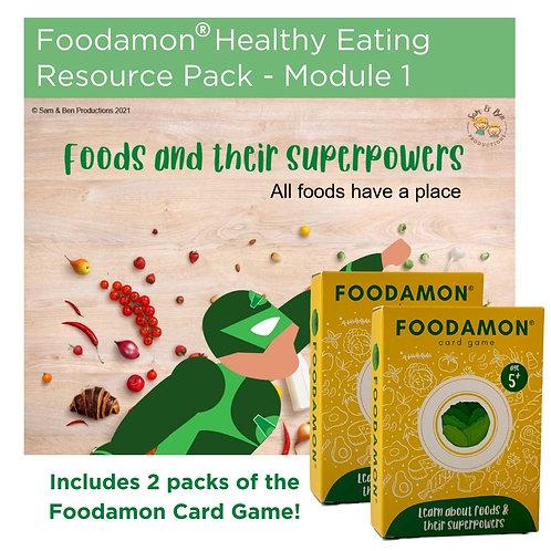 NZ Educator: Foodamon Healthy Eating : Module 1 with 2 x Packs of Foodamon