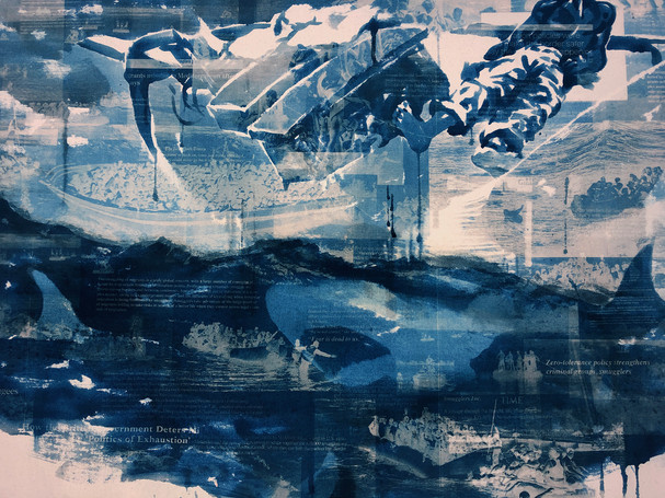 """Seol Park, """"Crowded Waters: The Gulf Stream"""" detail"""