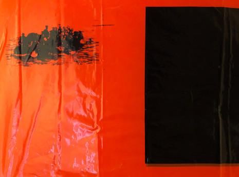 Seol Park, detail of SOS flag composition