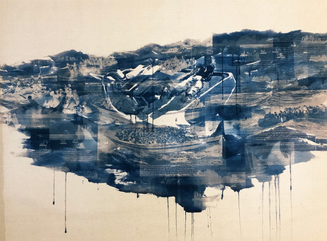 """Seol Park, Study for """"Crowded Waters: The Gulf Stream"""""""