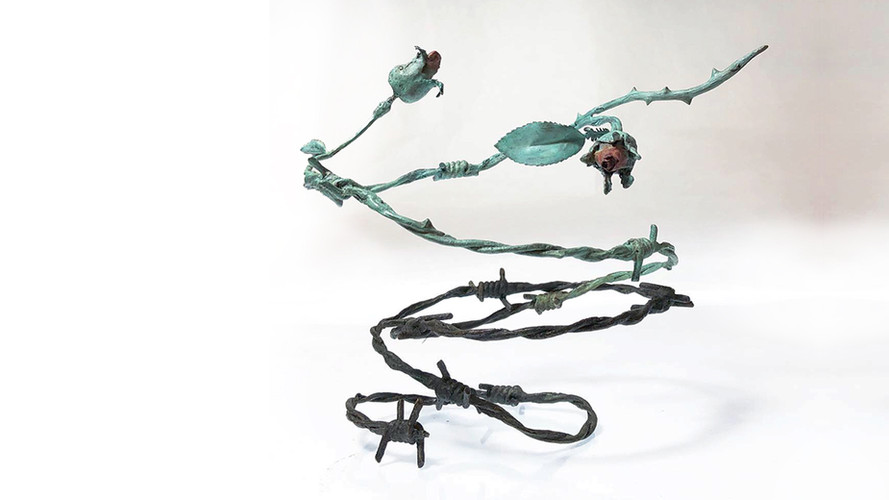 Becoming (Janurary 2019), patinated bronze, unique, 18x18x20""