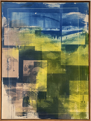 """Seol Park, Coming Home, 2019, photogram on canvs, 40""""x30"""""""