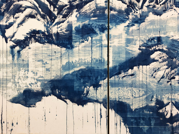 "Seol Park, ""Crowded Waters: True View Landscape"" (2019) detail"