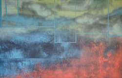 Acrylique sur isorel n°30 150x100 EricHubert 2021