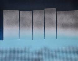 Acrylique sur papier n° 1-21 C 50x40 EricHubert 2021