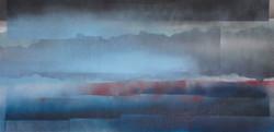 Acrylique sur papier n° 2-21 A 100x50 EricHubert 2021