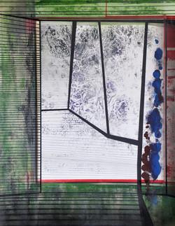 Encre et acylique sur papier 66 50x65 Er