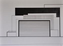 Encre et acrylique sur papier 38, 40x30, EricHubert 2020